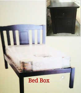 Clearance hard wood queen size bed Burwood Burwood Area Preview