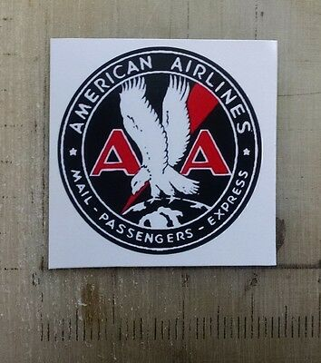 "Vintage American Airlines sticker decal 3"" diameter"