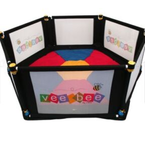 Vee bee 6 sided playyard with mat