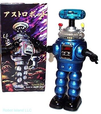Lost in Space Robot Tin Toy Windup YM-3 Blue