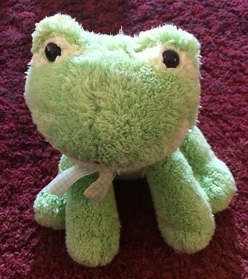 Princess Soft Toys Croaking Frog Plush 9""
