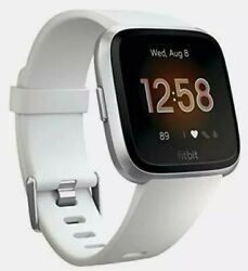 Fitbit FB415SRWT Versa Smart Watch, Lite Ed (S & L Bands Included) White/Silver