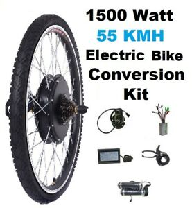 COMPLETE electric bike Conversion Kit 55kmh 1500w HIGH POWER