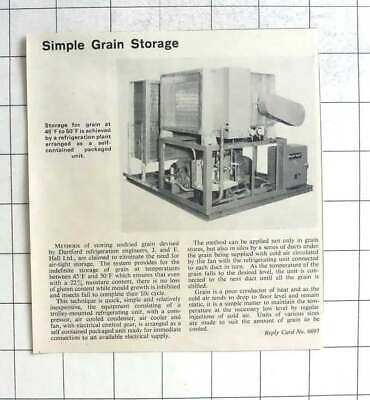 1964 Simple Grain Storage Devised By J And E Hall Ltd Dartford segunda mano  Embacar hacia Spain