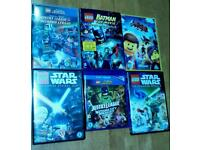 Six LEGO DVD's