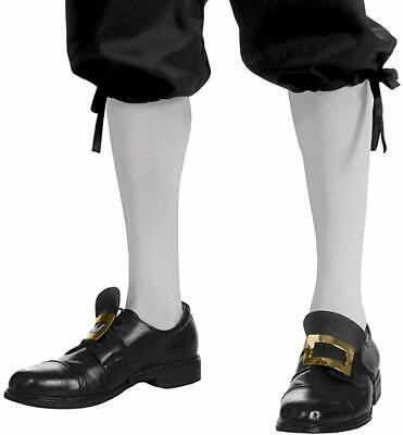 Forum Novelties Kolonial Kniehoch Weiß Socken Erwachsene Halloween - Kolonial Herren Kostüme