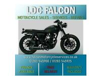MUTT FSR, 125cc MOTORBIKE, MATT BLACK, SUEDE SEAT, APPROVED DEALER