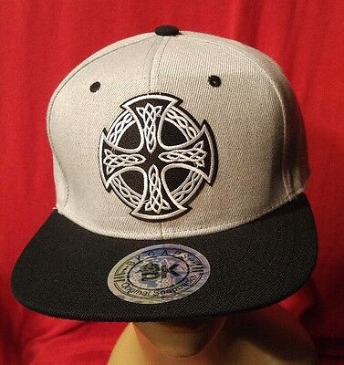 Celtic Iron Cross Snapback Hat Cap Alternative Clothing Sons Of Anarchy Biker
