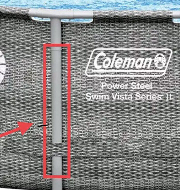 "Vertical Replacement Pole Leg Bestway/Coleman Pool 18' 22' X 48"" Vista II"