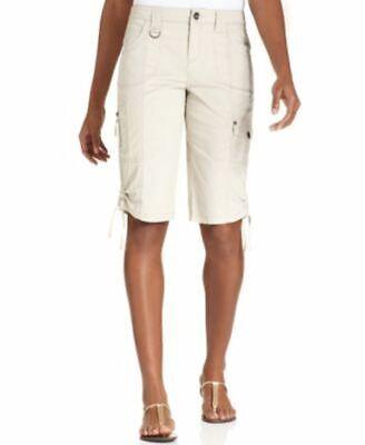 12 Pocket-cargo-shorts (Style & Co. Women's Zip-Pocket Cargo Shorts Bright White 12)