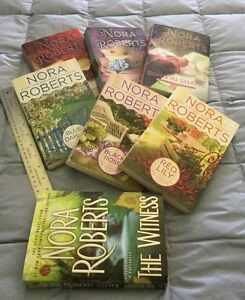 7 Large size  NORA ROBERTS BOOKS