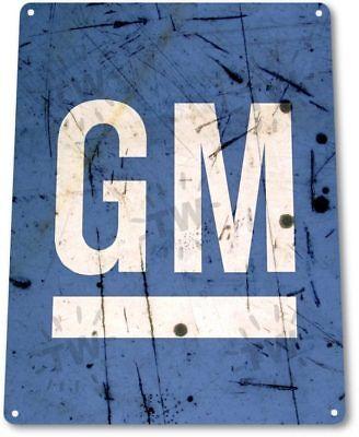 Gm General Motors Gmc Chevy Dealer Service Parts Retro Wall Decor Metal Tin Sign