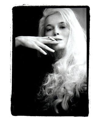Alice Krige Enigmatic Smoking Cigarette original Double Weight Portrait Photo