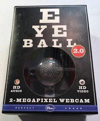 New Blue Microphones Eyeball Usb 2 0 2 Mp Web Cam Hd Audio   Video Im Chat Nib