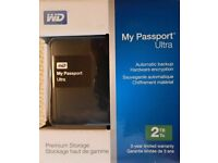 **SEALED** 2TB WD MY PASSPORT ULTRA BRAND NEW 2 TB AND INCLUDES 3 YEARS WARRANTY. GENUINE UK STOCK