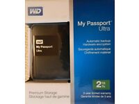 **SEALED** 2TB WD MY PASSPORT ULTRA BRAND NEW 2 TB AND INCLUDES 3 YEARS WARRANTY