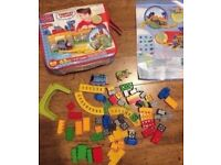 Thomas the Tank train Lego blocks with storage bag and extra train and tunnel
