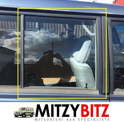 MITSUBISHI PAJERO SHOGUN MK1 LWB RIGHT OSR REAR PASSENGER DOOR DROP GLASS