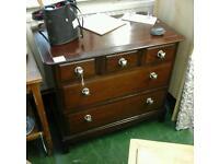 Mahogany chest of drawers ABC