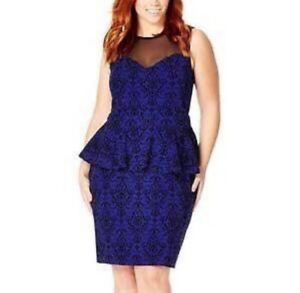 Plus size xxl 2xl dress in blue from Party Chic