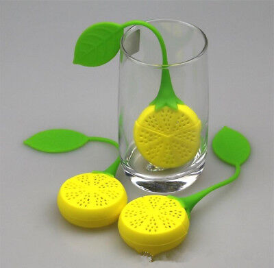 Lemon Silica Gel Tea Bag Silicone Creative Filter Infuser Strainer Herbal Spice