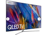 "Samsung QE55Q7F QLED HDR 1500 4K Ultra HD Smart TV, 55"" with TVPlus/Freesat HD & 360 Design,"