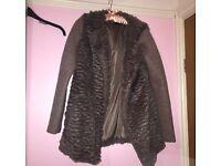 New Look grey fur coat!