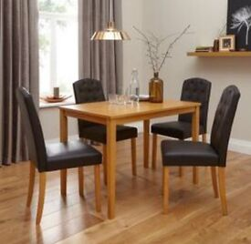 Pair Of NEXT Dark Brown Leather Dining Chairs