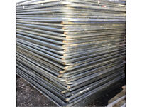 ❄️ •Used• Heras Style Temporary Metal Fence Panels ~ Site Security Fencing