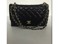 Chanel jumbo black bag