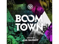 Tickets to boomtown