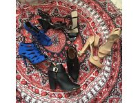 Women's heels and leather boots Selfridges, zoe wittner and more Size 6 uk Au 8 Eu 39