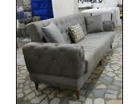 🤘🏻💓MEGA SALESTURKISH DESIGN FABRIC STORAGE SOFA BEDS SETTEE BLACK BROWN GREY SOFABED