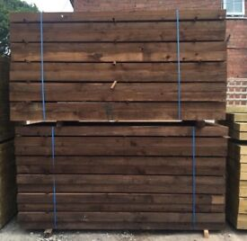 🎄Pressure Treated Wooden Sleepers // Brown ~ £16.50