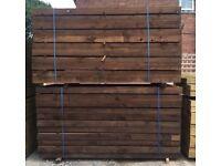 🎄Pressure Treated Wooden Sleepers // Brown ~ £16.50