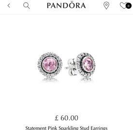 Light pink, Pandora earrings.