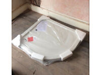 Brand New Unopened Offset Quadrant Shower Tray From Victoria Plumbing