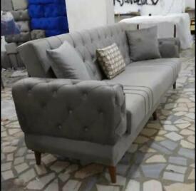 🤘🏻💓HUGE SALE TURKISH DESIGN FABRIC STORAGE SOFA BEDS SETTEE BLACK BROWN GREY SOFABED