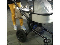 Joolz pram with the red sport seat