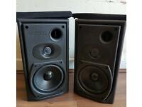 Mission book shelf speakers good condition hifi amp