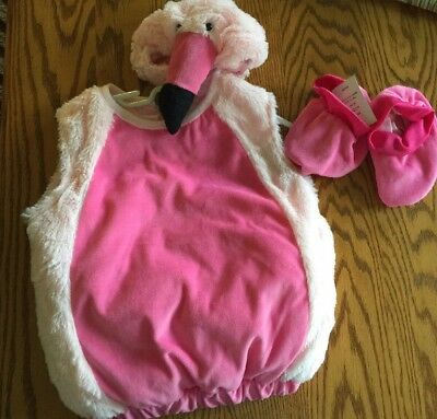 NEW! SILLY PINK FLAMINGO OUTFIT HALLOWEEN COSTUME, Infant 6-12 MONTHS, NWT](Pink Flamingo Baby Halloween Costume)