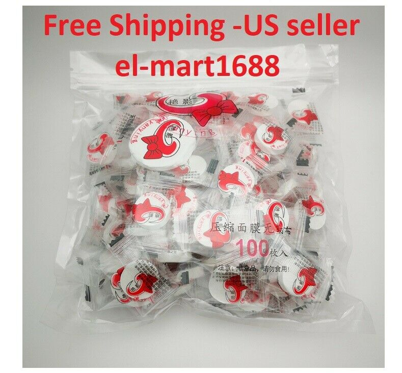 US Seller- 100 Pcs Beauty Skin Care Compressed Face Facial F