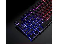 Multi Coloured Back-lit Computer Keyboard