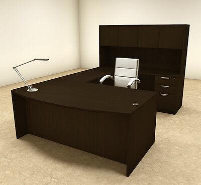 5pc U Shaped Modern Executive Office Desk Ot-sul-u16