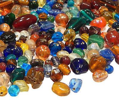 100 g Indische Glasperlen Mixform Bunte Lampwork Schmuck Konvolut BEST MIX16 (Perlen Indisches Schmuck)