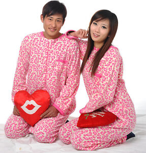 Hot Unisex Adult Pyjamas Footed Pajamas Sleepsuit Onesie Sleepwear Jumpsuit P1