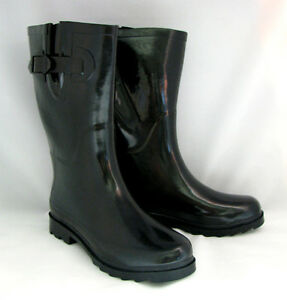 New Womens Wellies\ Mid Calf Rubber Snow \ Rain Boots, Size 5, 6, 7, 8, 9, 10,11