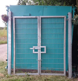Galvanised steel heavy duty security gates