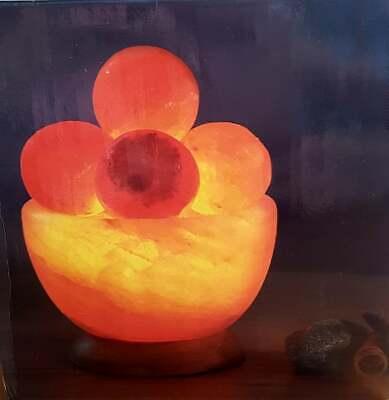 Salz Massage (Salzkristall Schale Tischdeko Leuchte Massagekugeln Entspannung Geschenk )