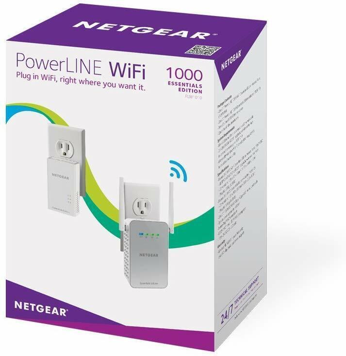NETGEAR PowerLINE 1000 Mbps WiFi, 802.11ac, 1 Gigabit Port -